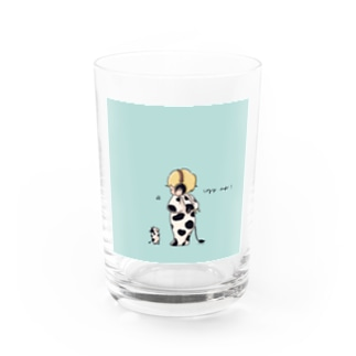 cozy boy Water Glass