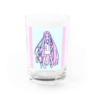 【寄付】(桃)ワクチン祈願アマビエサマ COLOREDナース Water Glass