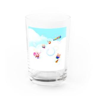 ふわふわもこもこ Water Glass