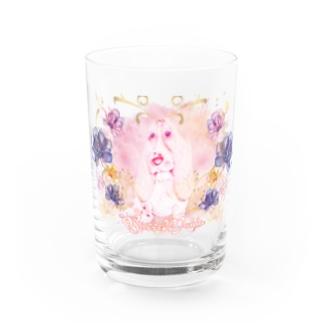 BassetMANIA luxuryFlower シリーズ Water Glass