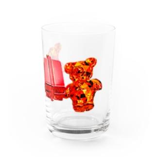 プレゼント交換くまちゃん Water Glass