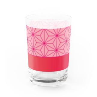 Own Your Life -SUZURI-の麻の葉 グラス Water Glass