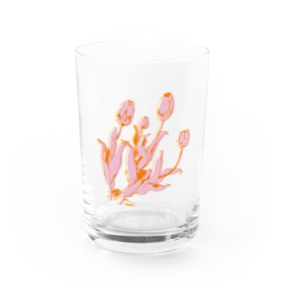 TULIP🌷 PINK/ORANGE Water Glass