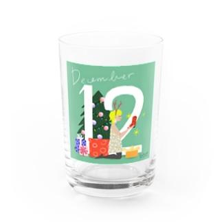 12月生まれの「ホリディシーズンはハッピーちゃん」  Water Glass