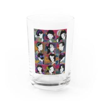 花札浪漫娘 Water Glass