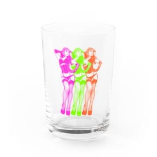 トリプル・ウノ(ネオン) Water Glass