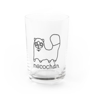 neco chan 黒 Water Glass
