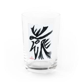障がい者アート「花-FLOWER-」 Water Glass