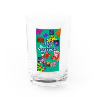 LIFE IS FREEDOM  Water Glass