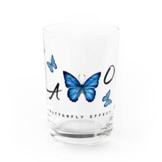 青い蝶 BUTTERFLY  EFFECT Water Glass