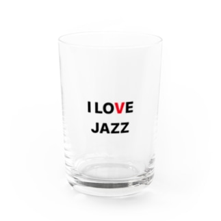 I LOVE JAZZ Water Glass