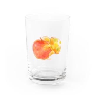 めろんぽっぷのお店だよのリンゴの香りに包まれる Water Glass