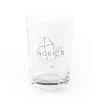 """モリオン(黒水晶) """"ラインイラストVer."""" Water Glass"""