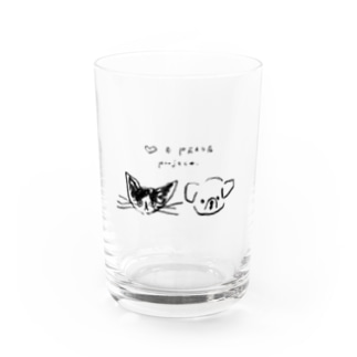 ♡ & PEACE Water Glass