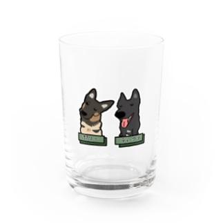 うちの子1番☆〜ポリーちゃん&ディーヴァちゃん〜 Water Glass