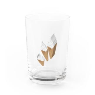 輪切りソフトクリーム Water Glass
