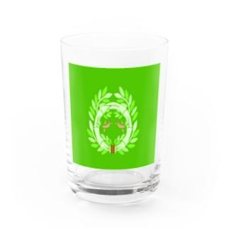 東欧風竹に雀 Water Glass