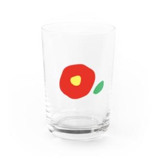 kozukuzuの椿(赤) Water Glass
