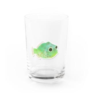 のこぎりはぎ「ガチャピョン」 Water Glass