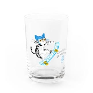 Nyalympic:SKATEBOARD Water Glass