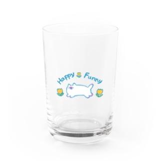 本調子のHappyFunnyねこちゃん Water Glass