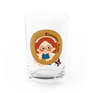 Cinnamon Sugar Water Glass