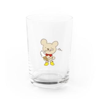 ソフトクリーム美味しいな💕 Water Glass