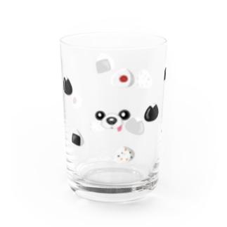 【グラス】おむすび犬 Water Glass