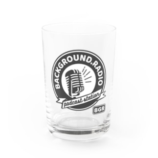 Background.radioのlogo (white) Water Glass