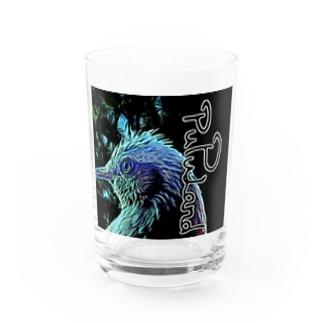 pupuland×ヒヨドリ Water Glass