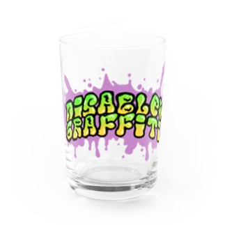 Disabled Graffiti Water Glass