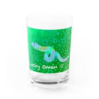 白蛇 🌟 lucky omen Water Glass