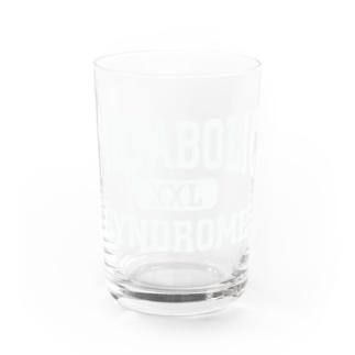 てなが.jpのメタボロゴ-白 Water Glass