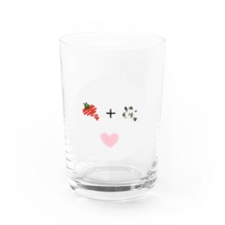 love:いちごミルク Water Glass
