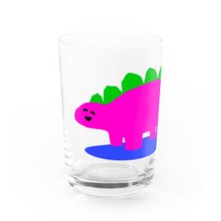 にこにこゆるきょうりゅう① Water Glass