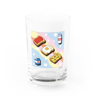 Milk and Plain bread  Water Glass