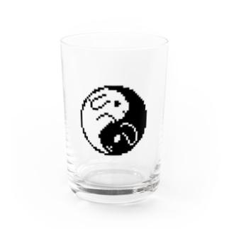 たれ耳うさぎ🐰の太極図 Water Glass