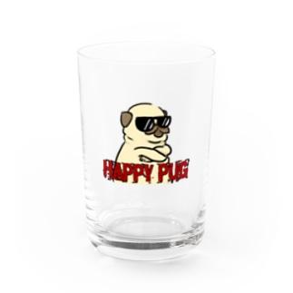 HAPPY PUG Water Glass