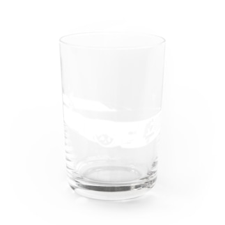 GRAY SCALE Journey V8(Black and white) Water Glass