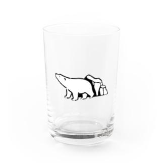 シロクマと氷山 Water Glass