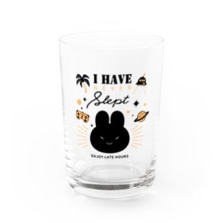 I HAVE NEVER SLEPT Water Glass