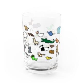「ゆるどうぶつの行進」 Water Glass