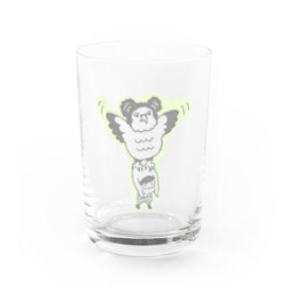 あやさんの色の薄いカンムリクマタカ Water Glass