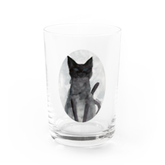 May Black cat Water Glass
