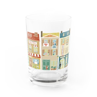 Mother−loving  town Water Glass
