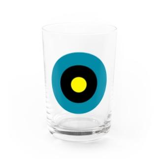 サークルa・ブルーグレー・黒・黄 Water Glass