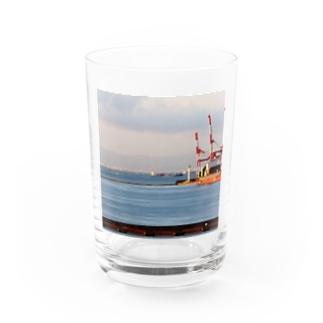 兵庫県:神戸付近の海の風景 Hyogo: view of the sea around Kobe Water Glass