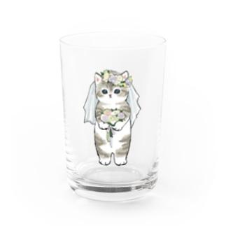 花嫁にゃん Water Glass