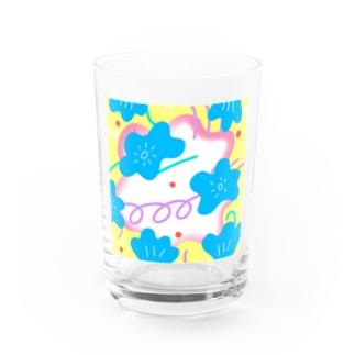 kirinpicnicのハッピーフラワーはじける Water Glass