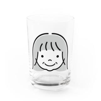 えくぼの女の子 Water Glass
